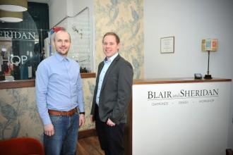 Blair and Sheridan in their workshop
