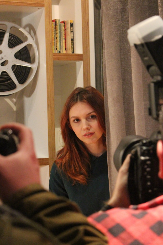 Hannah Murray meets the press (pic: Paul Gallagher)
