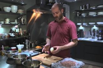 Ivan Stein in the kitchen (pic: YouTube)