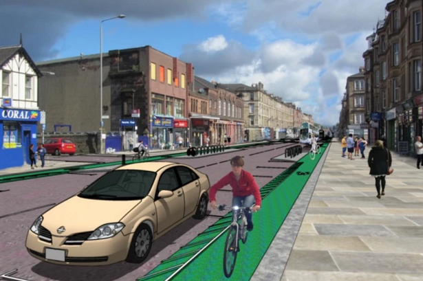 Artist's impression of the new road layout