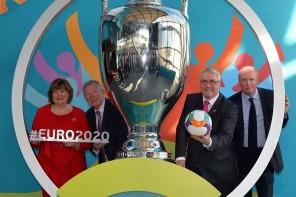 Sir Alex Ferguson unveils Euro 2020 host city logo