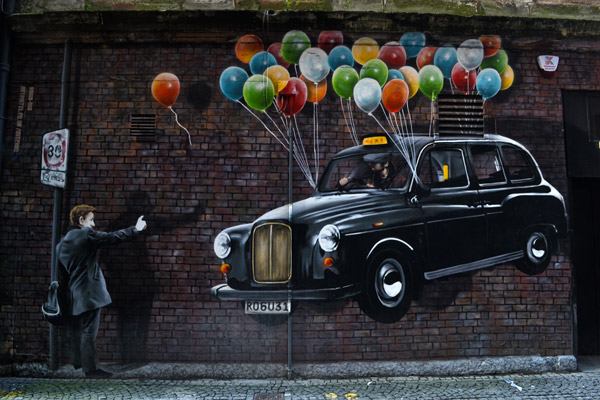 Glasgow has become a canvas for street art
