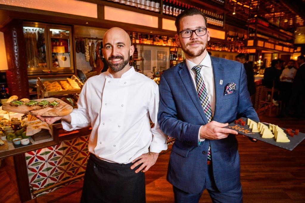 Iberica Glasgow Head Chef Sergio Olmeda and General Manager Lukas Krischki