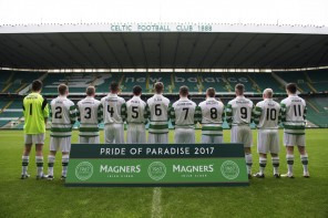 23/05/17 - 17052311 - MAGNERS  CELTIC PARK - GLASGOW  The Home Team line up.