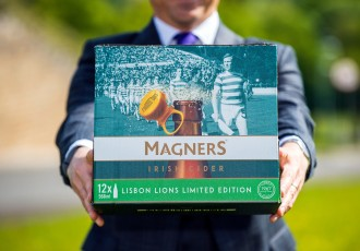 Magners are releasing a limited-edition Lisbon Lions pack © Warren Media