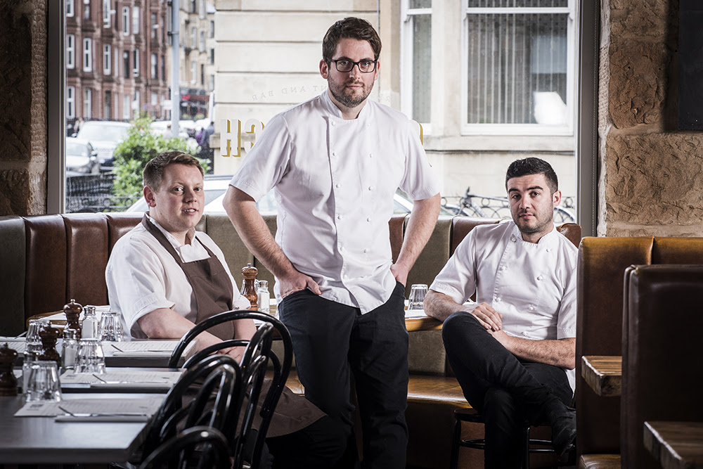 (Left to Right.: David Barnett, Head Chef; Jonathan MacDonald, Managing Director; Daniel Spurr, Chef Director)