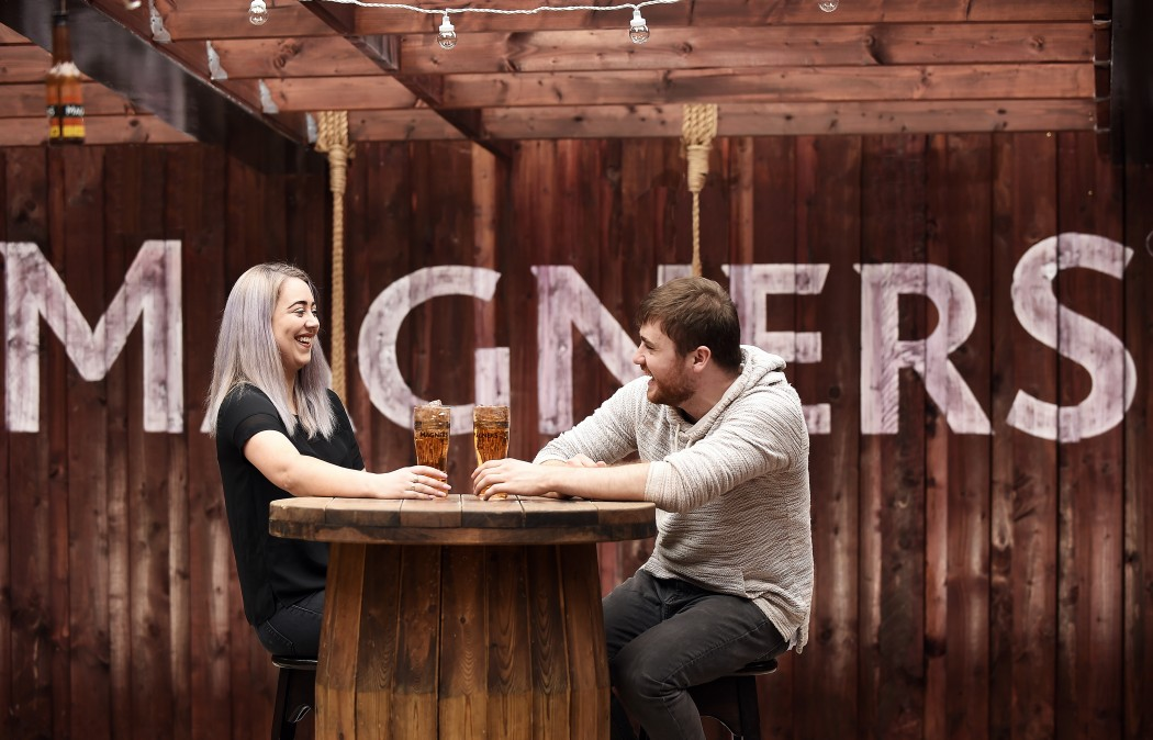 Magners At Malones rooftop bar in Glasgow. Picture © Andy Buchanan 2017
