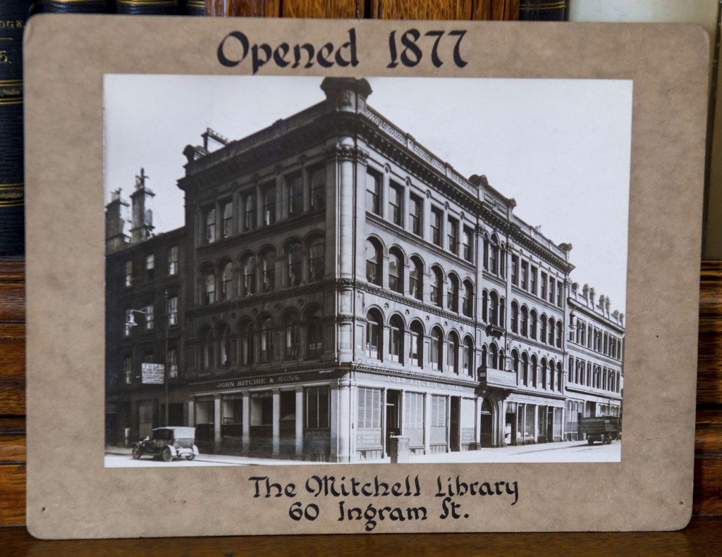 Mitchell Library opened in 1877 in Ingram street