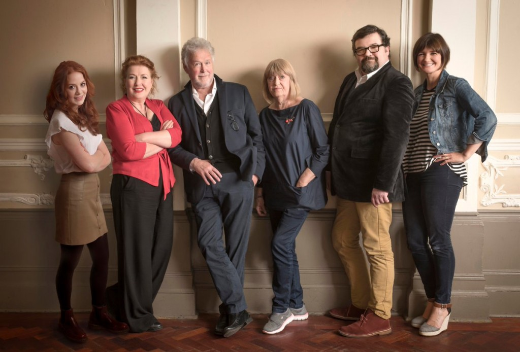 Writer and director Tony Roper, centre, with some of the Glasgow 30th Anniversary cast