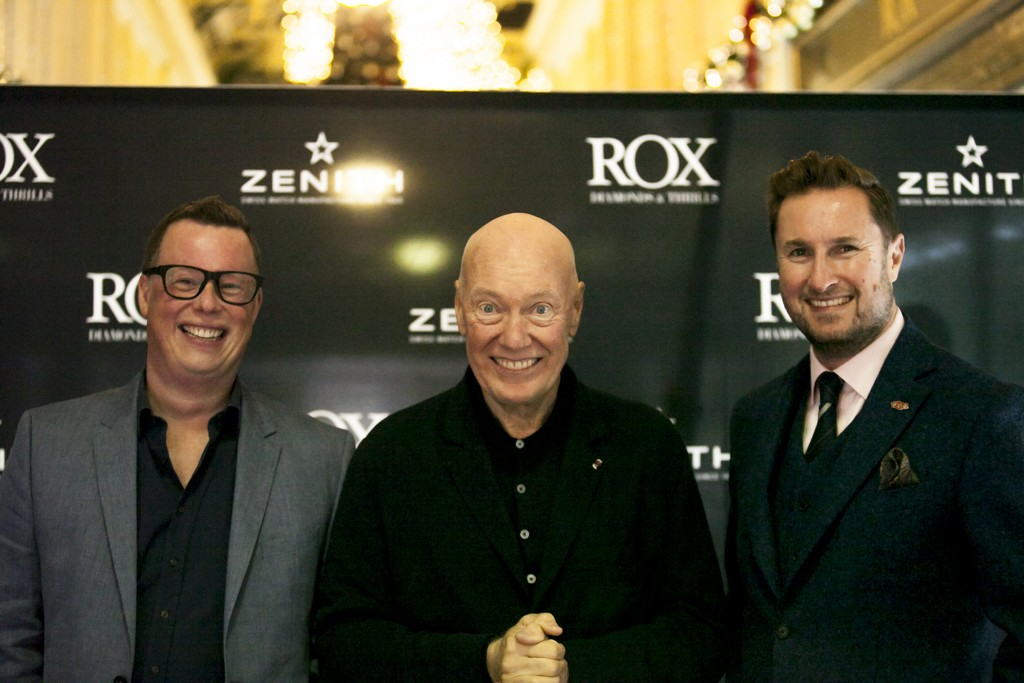 Jean-Claude Biver (centre) with Grant Mitchell and Kyron Keogh