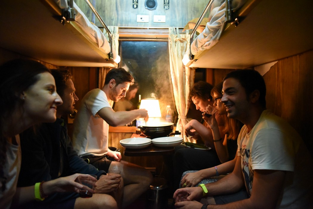 Vietnam Pop Up in our sleeper train cabin