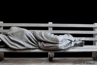 Homeless Jesus. Photo: Timothy Schmalz
