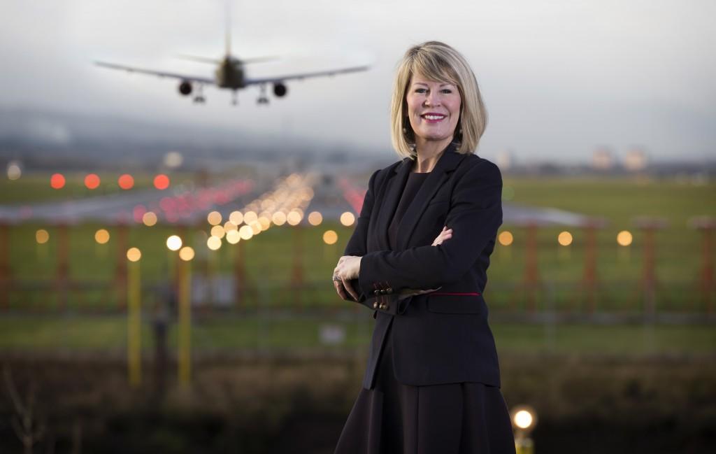 Glasgow Airport MD Amanda McMillan (Pic@ Martin Shields)