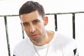 Martin Compston presents Example in Greenock for charity show