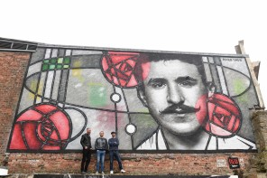 Giant Mackintosh mural overlooking The Clutha bar revealed by Radisson RED