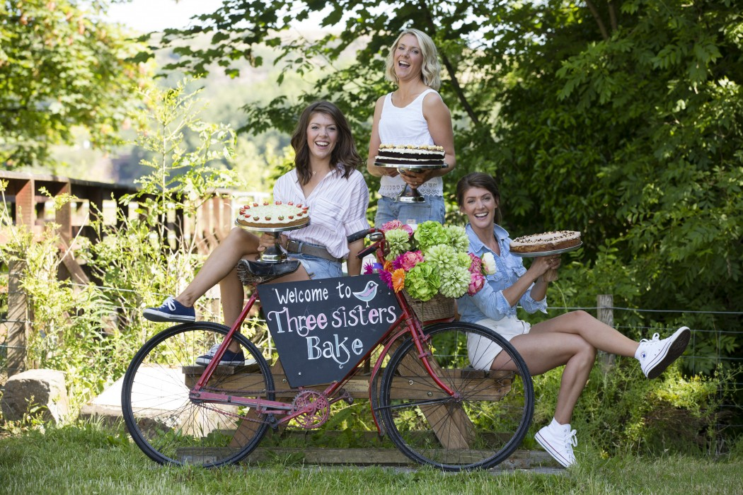 Nichola, Gillian and Linsey Reith, Three Sisters Bake Photograph by Martin Shields