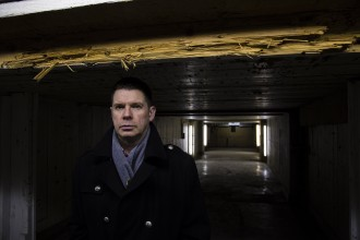 Pictured  Author RJ Mitchell , crime writer , former Herald & Evening Times sports writer and ex cop. He is pictured at the old firing range within the the former Strathclyde Police college in Oxford Street   Pic: Martin Shields