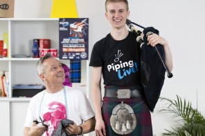 Piping Live! Glasgow International Piping Festival, the world's biggest week of piping, has teamed up with renowned Scottish designers to bring the worlds of piping and fashion together  Photograph by Martin Shields
