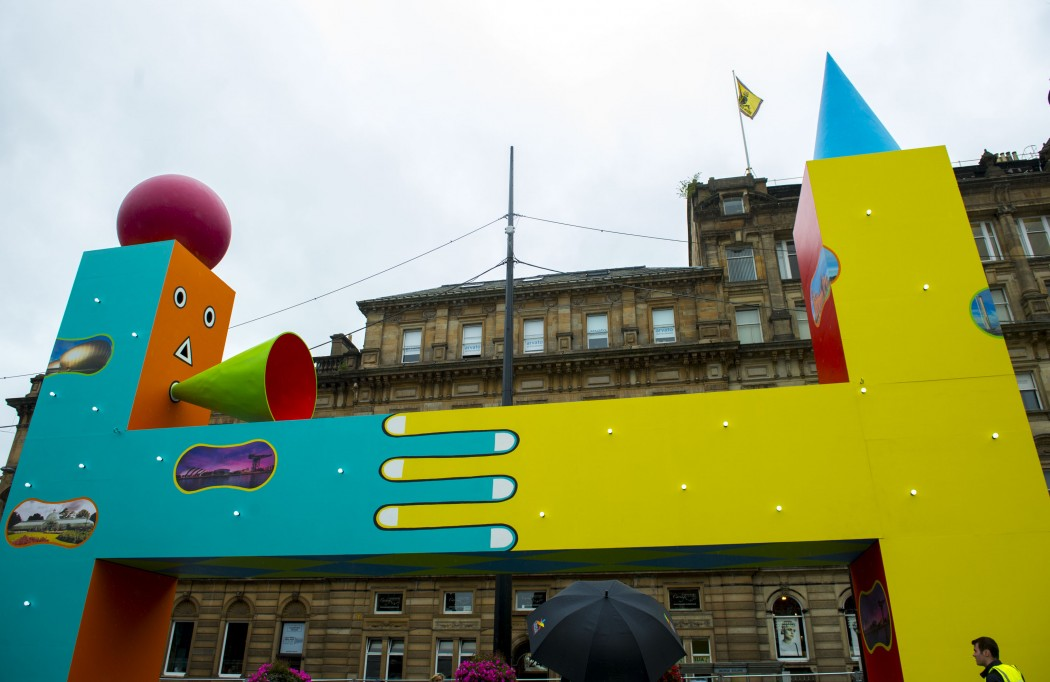 The Beats Per Minute art installation in George Square.