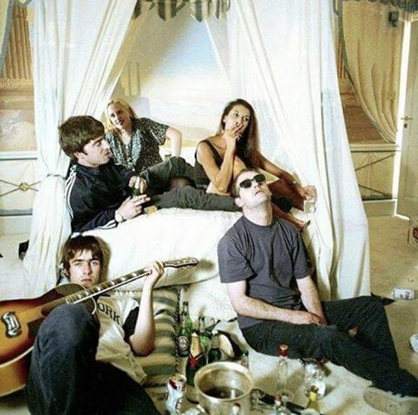 Oasis: Michael Spencer Jones shoot for Cigarettes & Alcohol single.