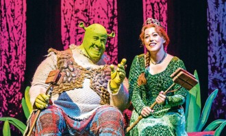 A scene from Shrek, The Musical @ Millennium Centre, Cardiff. (Opening 17-04-18) ©Tristram Kenton 04-18 (3 Raveley Street, LONDON NW5 2HX TEL 0207 267 5550  Mob 07973 617 355)email: tristram@tristramkenton.com