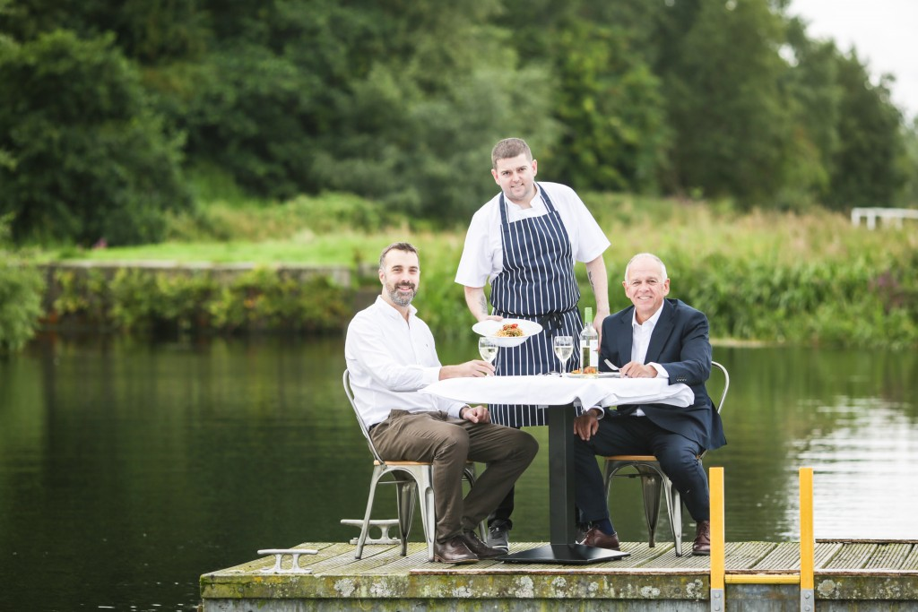 The Botany restaurant chef  John Paul Lappin with Alan Tomkins and Calum Lawson.