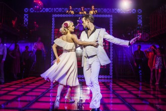 L-R Kate Parr (Stephanie) & Richard Winsor (Tony) - Saturday Night Fever - UK Tour (c) Pamela Raith Photography_073