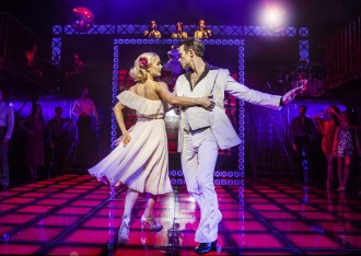 L-R Kate Parr (Stephanie) & Richard Winsor (Tony) - Saturday Night Fever - UK Tour (c) Pamela Raith Photography_073